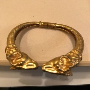 Kenneth J Lane Rams head bracelet